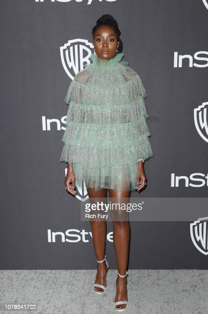 Kiki Layne attends the InStyle And Warner Bros Golden Globes After Party 2019 at The Beverly Hilton Hotel on January 6 2019 in Beverly Hills...