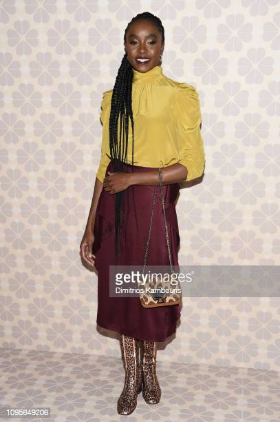 Kiki Layne attends the Kate Spade Fashion Show during New York Fashion Week at Cipriani 25 Broadway on February 8 2019 in New York City