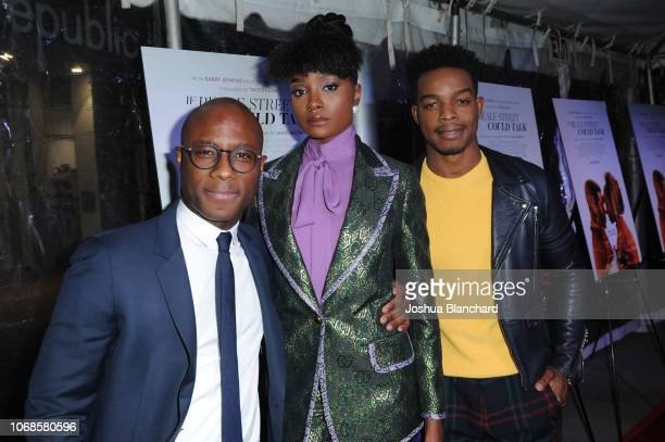 KiKi Layne Barry Jenkins and Stephan James arrive at the Los Angeles Special Screening Of Annapurna's If Beale Street Could Talk on December 4 2018...