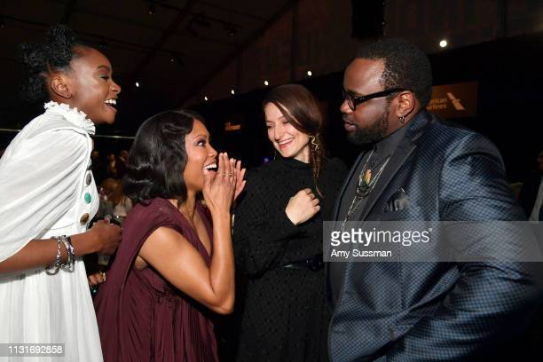 Kiki Layne Regina King Adele Romanski and Brian Tyree Henry attend the 2019 Film Independent Spirit Awards on February 23 2019 in Santa Monica...