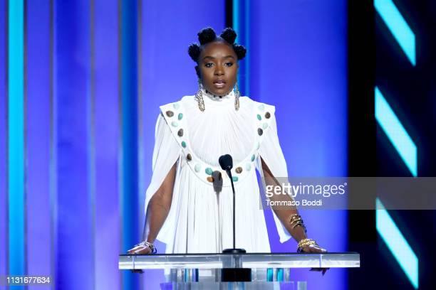 Kiki Layne speaks onstage during the 2019 Film Independent Spirit Awards on February 23, 2019 in Santa Monica, California.