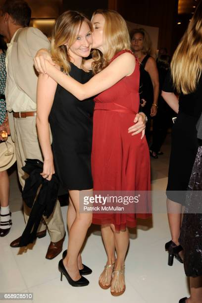 Kiki Przybylo and Alexis Bryan Morgan attend SAKS FIFTH AVENUE Celebrates the Opening of CALVIN KLEIN COLLECTION's New Women's Shop at Saks Fifth...