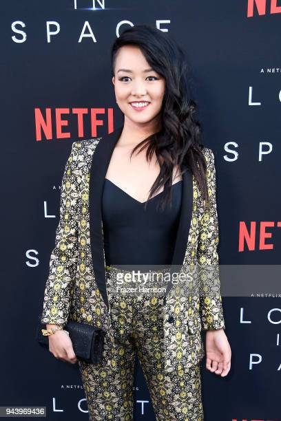 Kiki Sukezane attends the premiere of Netflix's 'Lost In Space' Season 1 at The Cinerama Dome on April 9 2018 in Los Angeles California