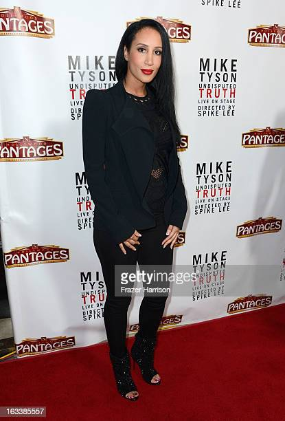Kiki Tyson arrives at the opening Night Of Mike Tyson Undisputed Truth At The Pantages Theatre at the Pantages Theatre on March 8 2013 in Hollywood...
