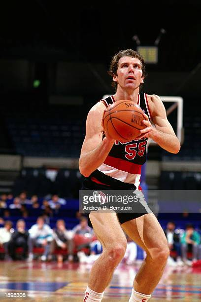 Kiki Vandeweghe of the Portland Trailblazers takes a freethrow during an NBA game NOTE TO USER User expressly acknowledges and agrees that by...
