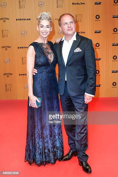 Kiki Viebrock and Uwe Ochsenknecht attend the Kryolan At Bambi Awards 2015 - Red Carpet Arrivals on November 12, 2015 in Berlin, Germany.