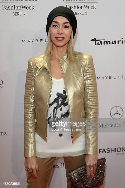 Kiki Viebrock attends the Laurel show during Mercedes-Benz Fashion Week Autumn/Winter 2014/15 at Brandenburg Gate on January 16, 2014 in Berlin,...