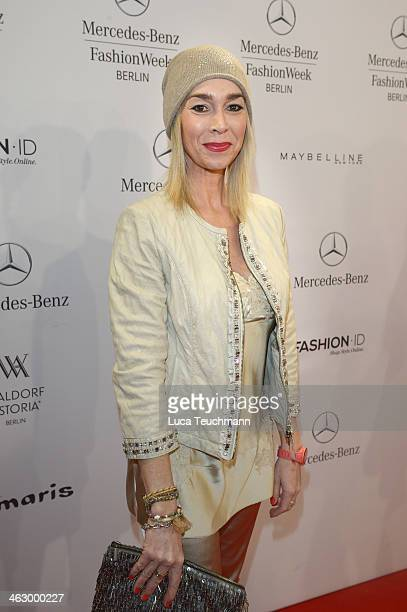 Kiki Viebrock attends the Marc Cain show during MercedesBenz Fashion Week Autumn/Winter 2014/15 at Brandenburg Gate on January 16 2014 in Berlin...