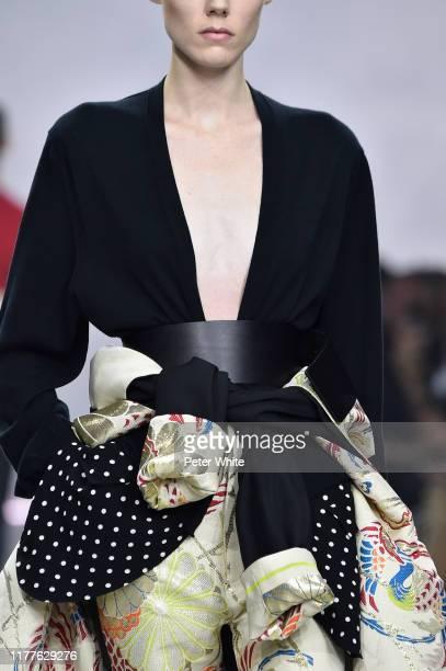 Kiki Willems, fashion detail, walks the runway during the Haider Ackermann Womenswear Spring/Summer 2020 show as part of Paris Fashion Week on...
