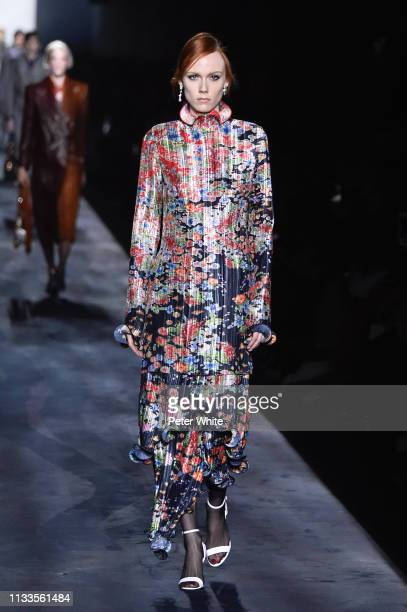Kiki Willems walks the runway during the Givenchy show as part of the Paris Fashion Week Womenswear Fall/Winter 2019/2020 on March 03, 2019 in Paris,...