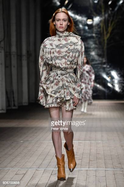 Kiki Willems walks the runway during the Isabel Marant show as part of the Paris Fashion Week Womenswear Fall/Winter 2018/2019 on March 1 2018 in...