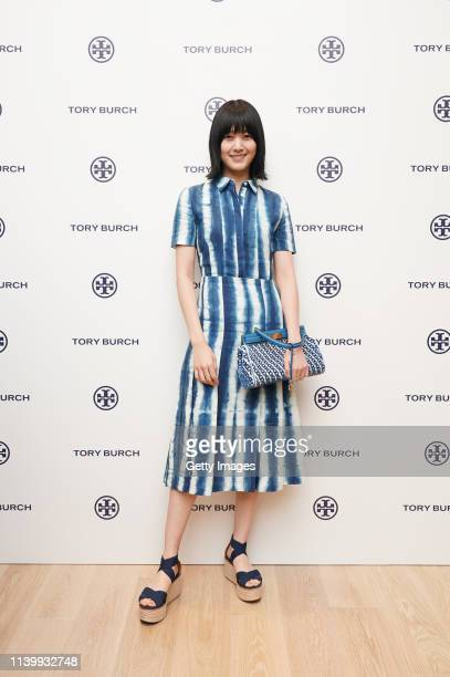 Kiko Arai attends the Tory Burch Ginza Boutique Opening on April 02 2019 in Tokyo Japan