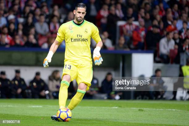 Kiko Casilla #13 of Real Madrid during The La Liga match between Club Atletico Madrid v Real Madrid at Wanda Metropolitano on November 18 2017 in...