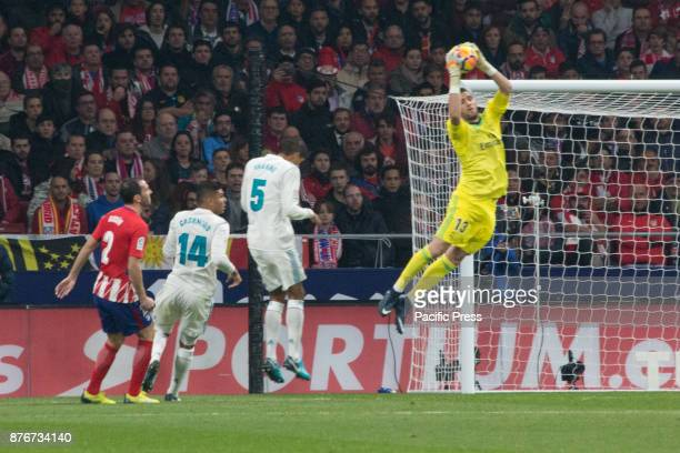 METROPOLITANO MADRID SPAIN Kiko Casilla catch the ball during Atletico de Madrid and Real Madrid match Null match between Atletico de Madrid and Real...