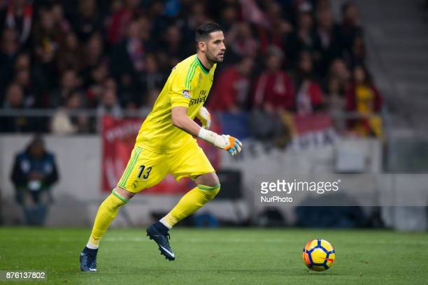 Kiko Casilla during the match between Atletico de Madrid and Real Madrid week 12 of La Liga at Wanda Metropolitano stadium Madrid SPAIN 18th November...