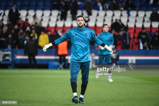 Kiko Casilla during the UEFA Champions League Round of 16 Second Leg match between Paris Saint Germain and Real Madrid at Parc des Princes on March 6...