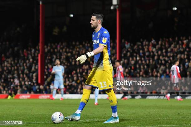 Kiko Casilla of Leeds in action during the Sky Bet Championship match between Brentford and Leeds United at Griffin Park London on Tuesday 11th...