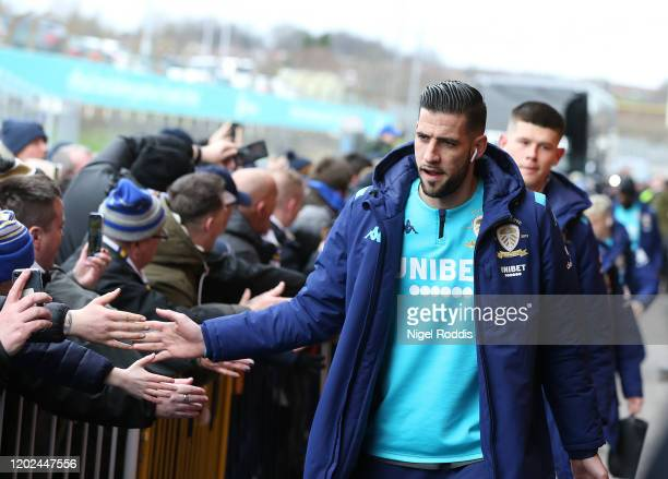 Kiko Casilla of Leeds United arrives ahead of the Sky Bet Championship match between Leeds United and Reading at Elland Road on February 22 2020 in...