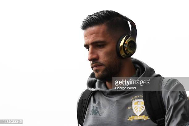 Kiko Casilla of Leeds United arrives prior to the Sky Bet Championship match between Leeds United and Queens Park Rangers at Elland Road on November...