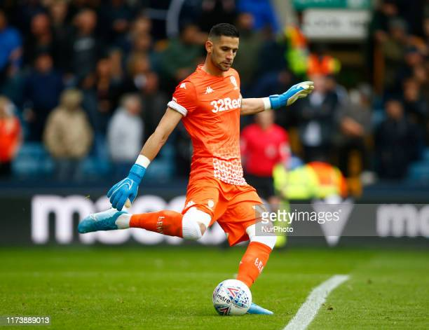 Kiko Casilla of Leeds United during English Sky Bet Championship between Millwall and Leeds United at The Den London England on 05 October 2019