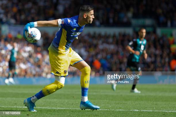 Kiko Casilla of Leeds United in action during the Sky Bet Championship match between Leeds United and Swansea City at Elland Road on August 31 2019...