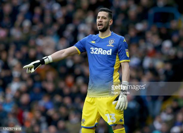 Kiko Casilla of Leeds United in action during the Sky Bet Championship match between Leeds United and Reading at Elland Road on February 22 2020 in...