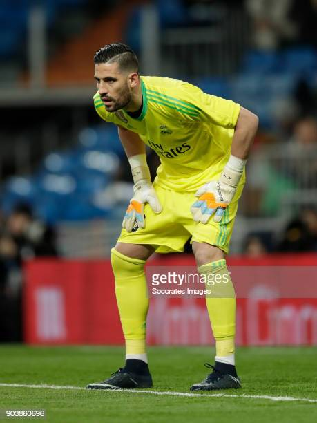Kiko Casilla of Real Madrid during the Spanish Copa del Rey match between Real Madrid v Numancia on January 10 2018