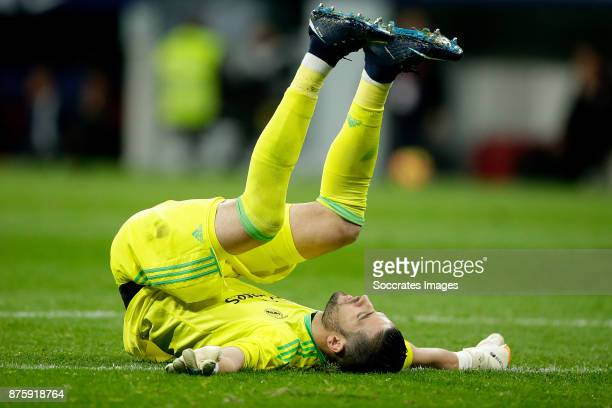 Kiko Casilla of Real Madrid during the Spanish Primera Division match between Atletico Madrid v Real Madrid at the Estadio Wanda Metropolitano on...