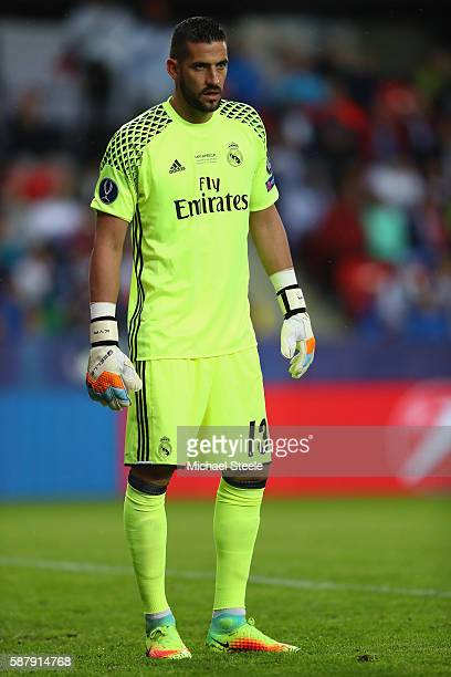 Kiko Casilla of Real Madrid during the UEFA Super Cup match between Real Madrid and Sevilla at Lerkendal Stadium on August 9 2016 in Trondheim Norway