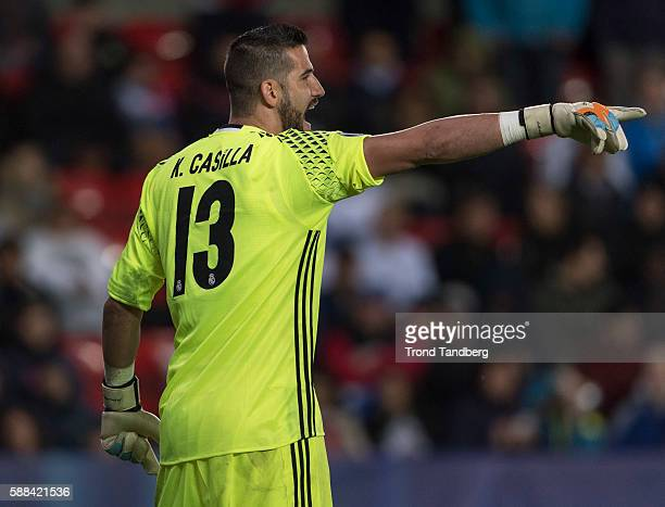 Kiko Casilla of Real Madrid during theUEFA Super Cup match between Real Madrid and Sevilla at the Lerkendal Stadion on August 9 2016 in Trondheim...