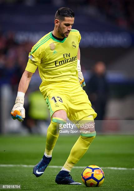 Kiko Casilla of Real Madrid in action during the La Liga match between Atletico Madrid and Real Madrid at Wanda Metropolitano Stadium on November 18...