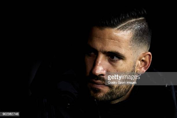 Kiko Casilla of Real Madrid looks on prior to the La Liga match between Celta de Vigo and Real Madrid at Estadio de Balaidos on January 7 2018 in...