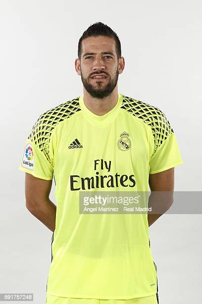 Kiko Casilla of Real Madrid poses during a portrait session at Valdebebas training ground on August 18 2016 in Madrid Spain