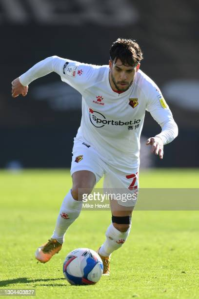 Kiko Femenía of Watford in action during the Sky Bet Championship match between AFC Bournemouth and Watford at Vitality Stadium on February 27, 2021...