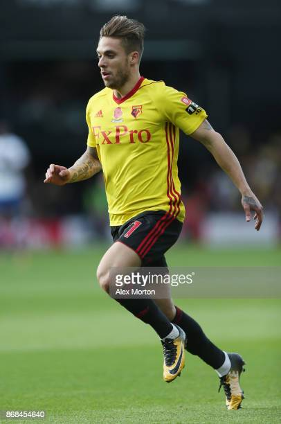 Kiko Femenia of Watford during the Premier League match between Watford and Stoke City at Vicarage Road on October 28 2017 in Watford England