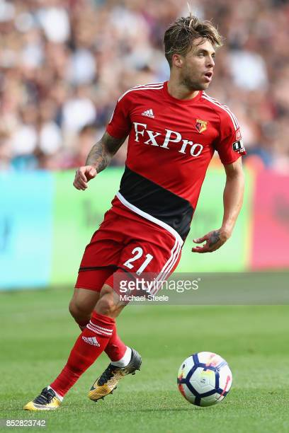 Kiko Femenia of Watford during the Premier League match between Swansea City and Watford at Liberty Stadium on September 23 2017 in Swansea Wales