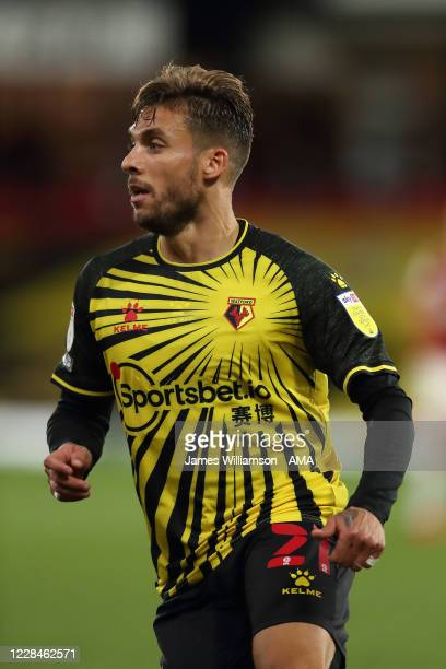 Kiko Femenia of Watford during the Sky Bet Championship match between Watford and Middlesbrough at Vicarage Road on September 11, 2020 in Watford,...