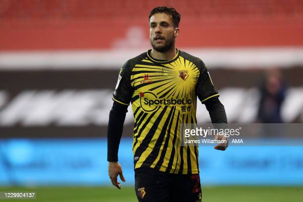 Kiko Femenia of Watford during the Sky Bet Championship match between Nottingham Forest and Watford at City Ground on December 2, 2020 in Nottingham,...