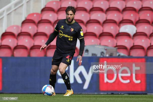 Kiko Femenia of Watford during the Sky Bet Championship match between Middlesbrough and Watford at the Riverside Stadium, Middlesbrough, England on...