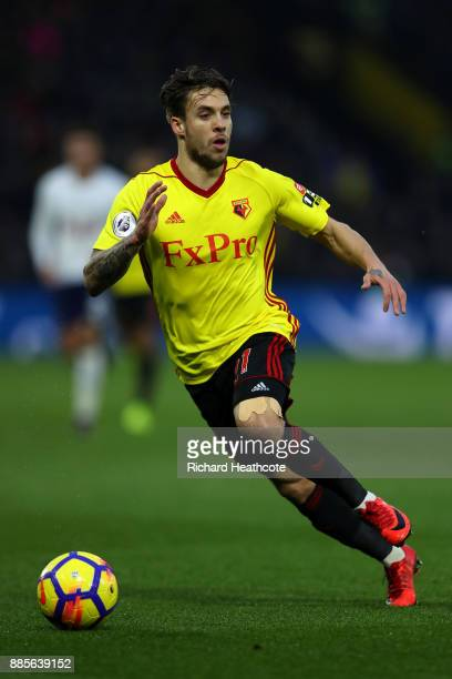 Kiko Femenia of Watford in action during the Premier League match between Watford and Tottenham Hotspur at Vicarage Road on December 02 2017 in...