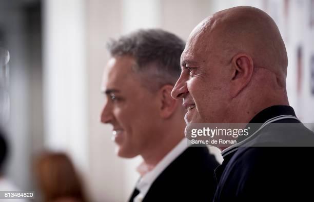 Kiko Hernandez and Kiko Matamoros attend the presentation of the new book 'Frente Al Espejo' at Hotel Villamagna on July 12 2017 in Madrid Spain