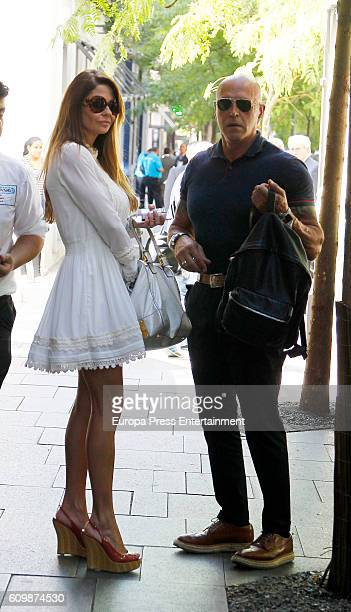 Kiko Matamoros and Makoke are seen on September 22 2016 in Madrid Spain