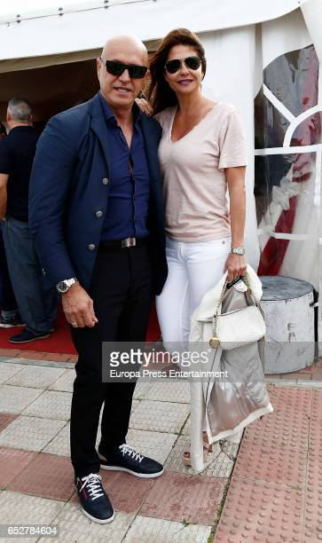 Kiko Matamoros and Makoke attend the traditional Spring Bullfighting performance on March 11 2017 in Illescas Spain