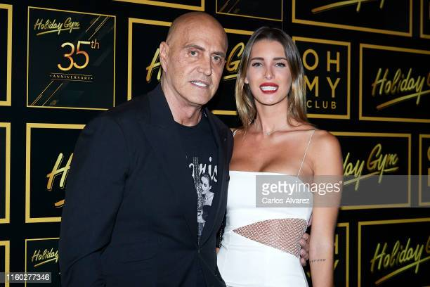 Kiko Matamoros and Marta Lopez Alamo attend 'Holiday Gym' 35th anniversary party on July 05 2019 in Madrid Spain