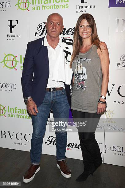 Kiko Matamoros and wife Makoke attend Flamenco Solidario party at Bucca Club on April 7 2016 in Madrid Spain