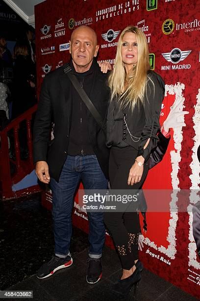 Kiko Matamoros and wife Makoke attend Miguel de Molina al Desnudo premiere at the Santa Isabel Theater on November 4 2014 in Madrid Spain