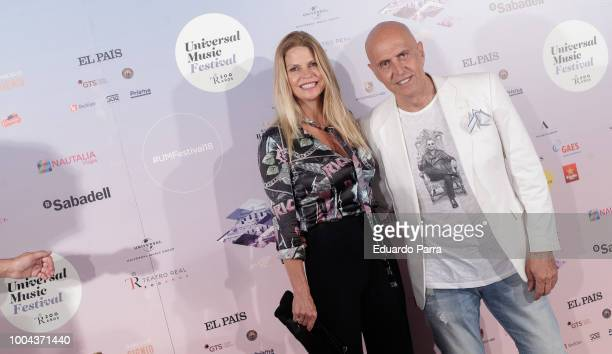 Kiko Matamoros and wife Makoke attend the Gregory Porter concert photocall at Royal Theatre on July 23 2018 in Madrid Spain