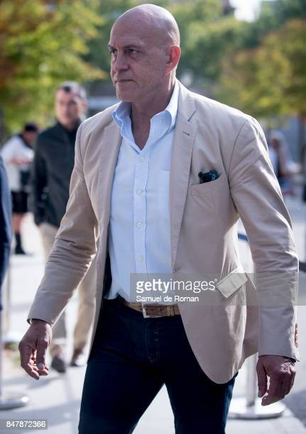 Kiko Matamoros arrives to the Funeral Tribute For Angel Nieto in Madrid on September 16 2017 in Madrid Spain