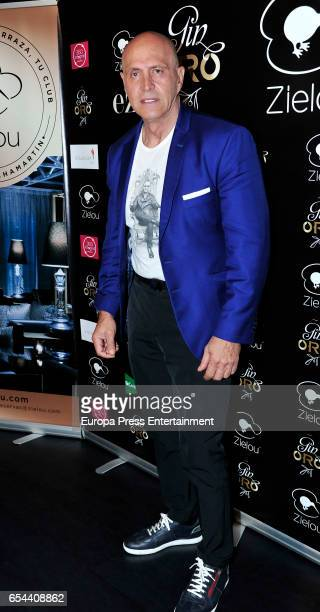 Kiko Matamoros attend the presentation of 'Gin Oro' at Zielou club on March 16 2017 in Madrid Spain