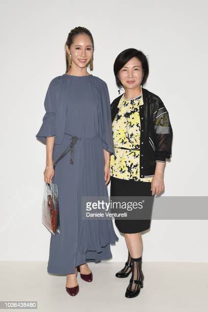 Kiko Matsuyama and Izumo Ogino are seen backstage ahead of the Anteprima show during Milan Fashion Week SS 2019 on September 20 2018 in Milan Italy